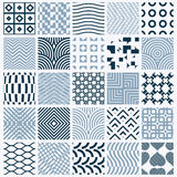 Vector ornamental black and white seamless backdrops set, geomet. Ric patterns collection. Ornate textures made in modern simple style royalty free illustration
