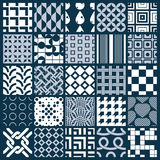 Vector ornamental black and white seamless backdrops set, geomet. Ric patterns collection. Ornate textures made in modern simple style vector illustration