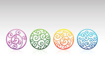 Vector Ornamental Circles Royalty Free Stock Image
