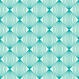 Vector ornamental continuous background made using undulate line. S, curves and circles. Bright composition can be used as wallpaper pattern Royalty Free Stock Photos