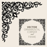 Vector ornamental corner frame stock illustration