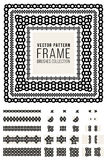 Vector Ornamental Decorative Frame Rounded Lines Pattern Brushes Set Royalty Free Stock Image
