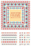 Vector Ornamental Decorative Frame Rounded Lines Pattern  Stock Image
