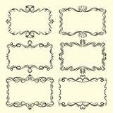 Vector Ornamental design borders and corners. royalty free illustration