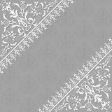 Vector ornamental floral border. Decorative vector elements and corner on a gray background Royalty Free Stock Image