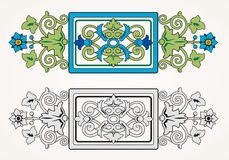 Vector ornamental floral element. Vintage style Royalty Free Stock Image