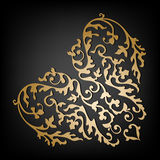 Vector ornamental floral heart. Vintage style Royalty Free Stock Image