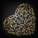 Vector ornamental floral heart. Vintage style Stock Image