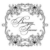 Vector ornamental frame. Baroque pattern. Royalty Free Stock Images