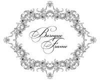 Vector ornamental frame. Baroque pattern. Stock Photo
