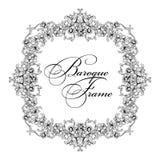 Vector ornamental frame. Baroque pattern. Stock Image