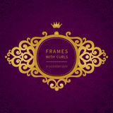 Vector ornamental framework in Victorian style. Royalty Free Stock Photography