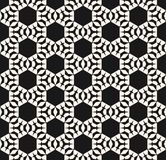 Vector ornamental geometric texture. Seamless pattern with hexagons, triangles. Vector ornamental geometric texture. Monochrome seamless pattern with angled royalty free illustration