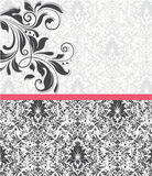 Vector ornamental invitation card Royalty Free Stock Photos