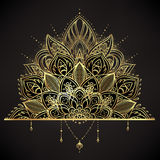 Vector ornamental Lotus flower, ethnic art, patterned Indian pai Royalty Free Stock Photography