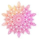 Vector ornamental mandala inspired ethnic art, patterned Indian Stock Image