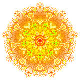 Vector ornamental mandala inspired ethnic art, patterned Indian Stock Photography