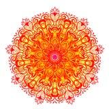 Vector ornamental mandala inspired ethnic art, patterned Indian Stock Photo