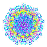 Vector ornamental mandala inspired ethnic art, patterned Indian Stock Images