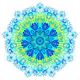 Vector ornamental mandala inspired ethnic art, patterned Indian Royalty Free Stock Photos