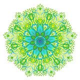 Vector ornamental mandala inspired ethnic art, patterned Indian Royalty Free Stock Photo