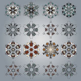 Vector ornamental Mandala set. Round pattern. Circle  Tattoo Stock Photography