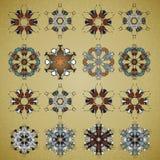 Vector ornamental Mandala set. Round pattern. Circle  Tattoo. Stock Image