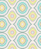 Vector ornamental pattern. Seamless pretty decorative pattern. very naive, bohemian style, oldies, retro revival Royalty Free Stock Image