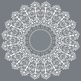 Vector ornamental round lace with damask and Stock Photography