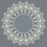 Vector ornamental round lace with damask and Stock Image