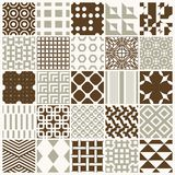 Vector ornamental seamless backdrops set, geometric patterns col. Lection. Ornate textures made in modern simple style royalty free illustration