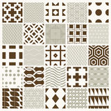Vector ornamental seamless backdrops set, geometric patterns. Collection. Ornate textures made in modern simple style royalty free illustration
