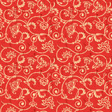 Vector ornamental seamless background. Vector seamless grunge background with vintage floral elements Stock Image