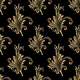 Vector ornamental seamless background. Vector seamless shining background with vintage floral pattern Stock Photography