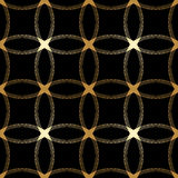 Vector ornamental seamless background. Vector vintage gold geometrical floral ornament. Seamless background Royalty Free Stock Photo