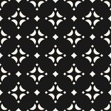 Vector ornamental seamless pattern with diamond shapes, stars. Abstract monochrome geometric texture. Elegant black and white repeat background. Dark design Vector Illustration
