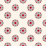 Vector ornamental seamless pattern with floral shapes. Red,. Vector ornamental seamless pattern with geometric floral shapes. Red, black and beige colors Stock Photos