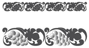 Vector ornamental seamless pattern with grapes and grape leaves. Vector ornamental seamless pattern ,bordur Royalty Free Stock Photography