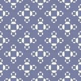 Vector ornamental seamless pattern in neutral pastel. Colors, blue serenity and white. Abstract texture with simple geometric figures, floral shapes. Stylish Stock Images