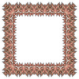 Vector ornamental soft pink frame. Isolated square element. Stock Photography