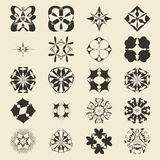 Vector ornamental symbols collection. Logo Royalty Free Stock Image