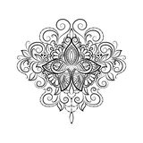 Vector ornamental Tattoo Lotus Stock Image