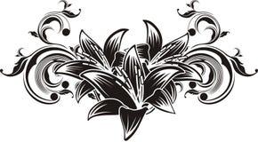 vector ornamentbloemen Stock Afbeeldingen