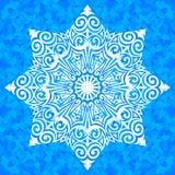 Vector ornamented snowflake Royalty Free Stock Photo