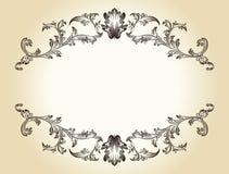 Vector ornamento reale del blocco per grafici dell'annata il retro Fotografie Stock