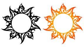 Vector ornaments, abstract sun, fire Royalty Free Stock Photos