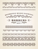 Vector Ornaments Borders. Decorative Design Elements. Royalty Free Stock Photography