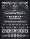 Vector Ornaments Borders. Decorative Design Elements. Royalty Free Stock Photos