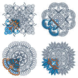 Vector ornaments for coloring. Royalty Free Stock Photos