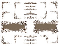 Vector ornaments corners borders set Royalty Free Stock Photos